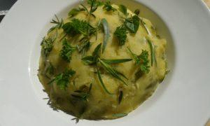Mein Kartoffel- Bohnenstampf mit Kräutern und Leinöl